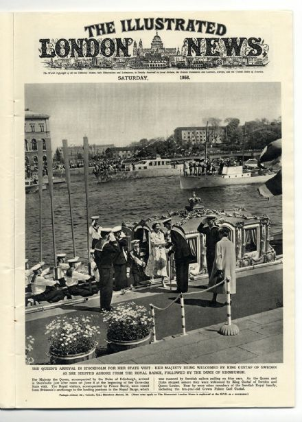 1956 ILLUSTRATED LONDON NEWS Stockholm ROUEN FRANCE Derby Horse Race (6016)